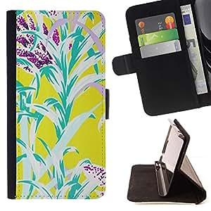 For Sony Xperia Z3 Plus / Z3+ / Sony E6553 (Not Z3) Case , Flores amarillas del trullo naturaleza Verano- la tarjeta de Crédito Slots PU Funda de cuero Monedero caso cubierta de piel