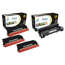 Catch Supplies TN580 & DR520 Premium Combo Replacement Toner Cartridge and Drum Unit Compatible with Brother HL-5240 5250DN 5250, MFC-8460N 8660DN 8860, DCP-8060 8065DN Printers |3 TN-580, 1 DR-520|