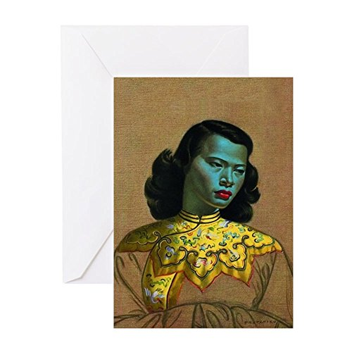 (CafePress - Vladimir Tretchikoff - The Chinese Girl - The Gree - Greeting Card, Note Card, Birthday Card, Blank Inside Matte)