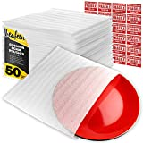 """12"""" x 12"""" Foam Wrap Pouches Cushioning for Packing Moving Shipping and Storage Supplies - Foam Pouches is Great Alternative to Air Sheets and Bubble Packing Envelopes - 50 Pack"""