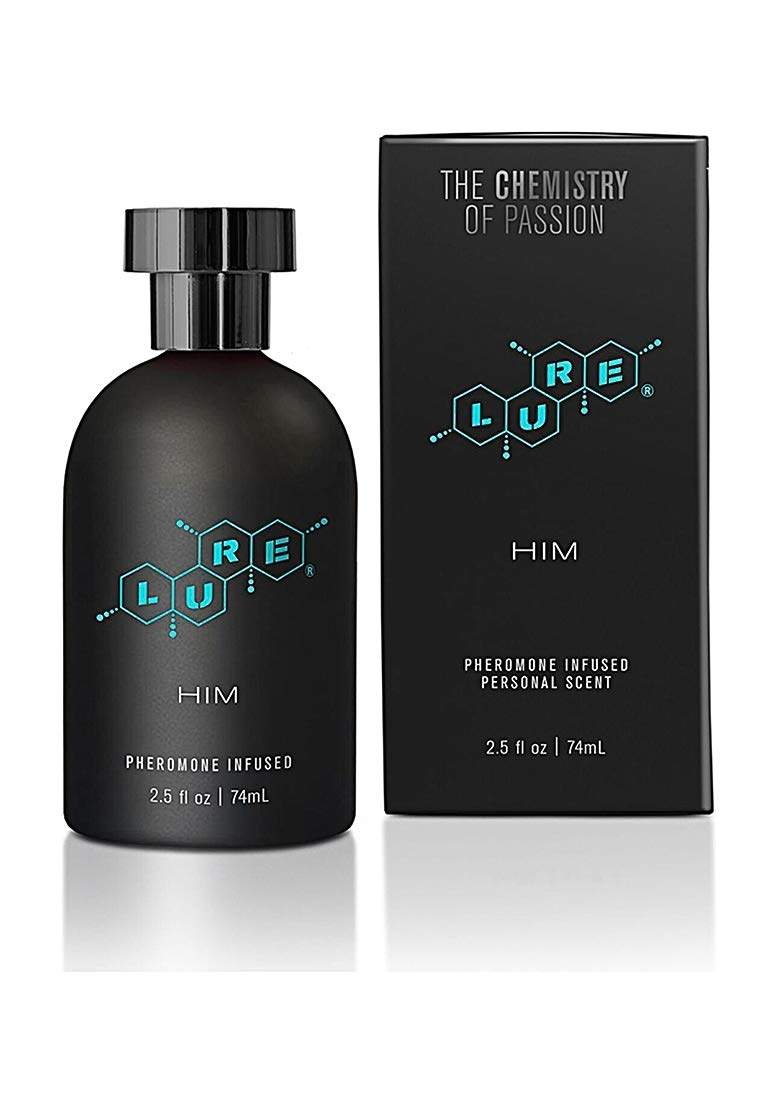 Topco Lure Black Label for Him Pheromone Infused Personal Scent, 2.5 Fluid Ounce
