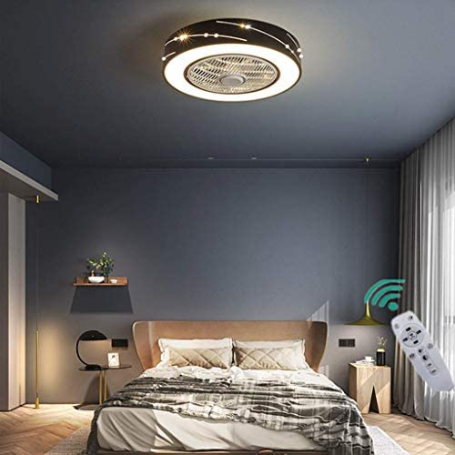 HGW Moderne Kreative LED Fan Deckenventilator Deckenleuchte Mit Fernbedienung Leise Deckenventilator Schlafzimmer Lampe Wohnzimmer Kindergarten Büro Kinderzimmer Deckenventilator Beleuchtung