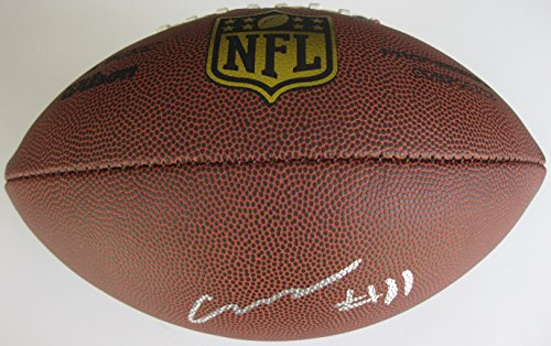 Carlos Henderson, Denver Broncos, Louisiana Tech, Signed, Autographed, NFL Duke Football, a Coa with the Proof Photo of Carlos Signing Will Be Included with the Football