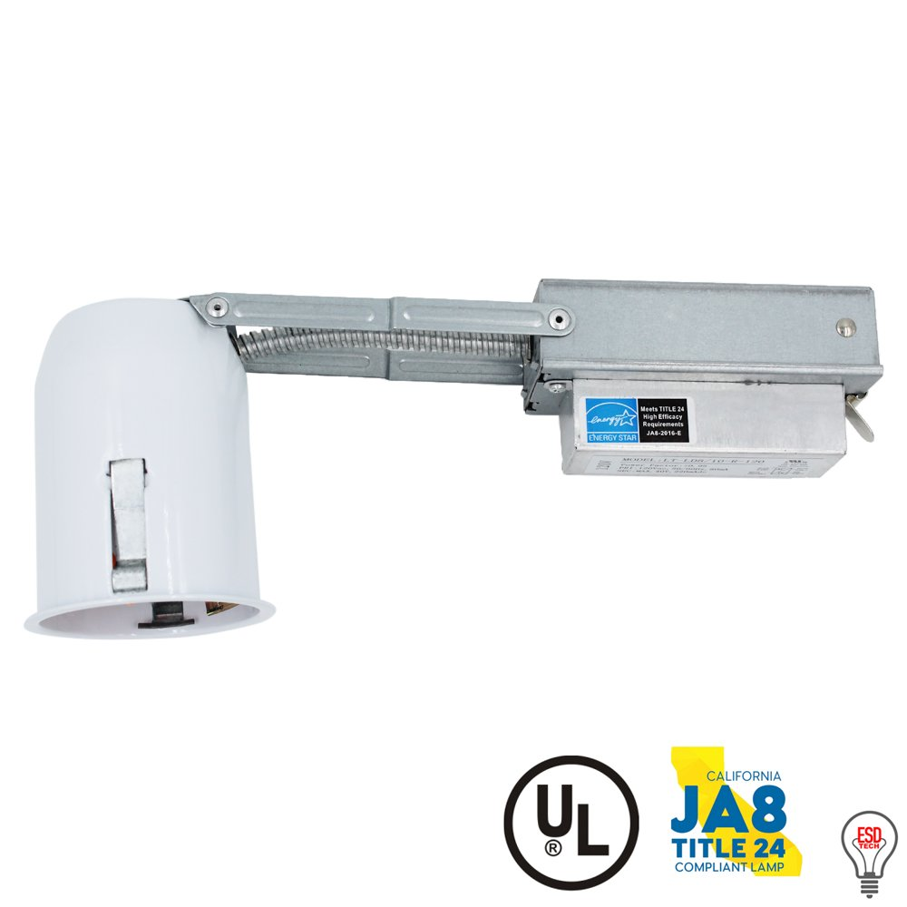 """ESD Tech 2"""" Inch LED Remodel Recessed Housing Can with Driver for Ceiling Downlights. Dimmable, UL Listed, Energy Star, TP24 Connection. Non-IC Rated."""