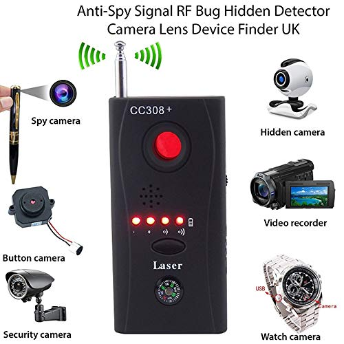 Anti Detector Hidden Camera GSM Audio Bug Finder GPS Signal Lens RF Tracker