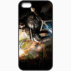 Personalized iPhone 5 5S Cell phone Case/Cover Skin Art Man Warrior Weapon Lightning Sword Black