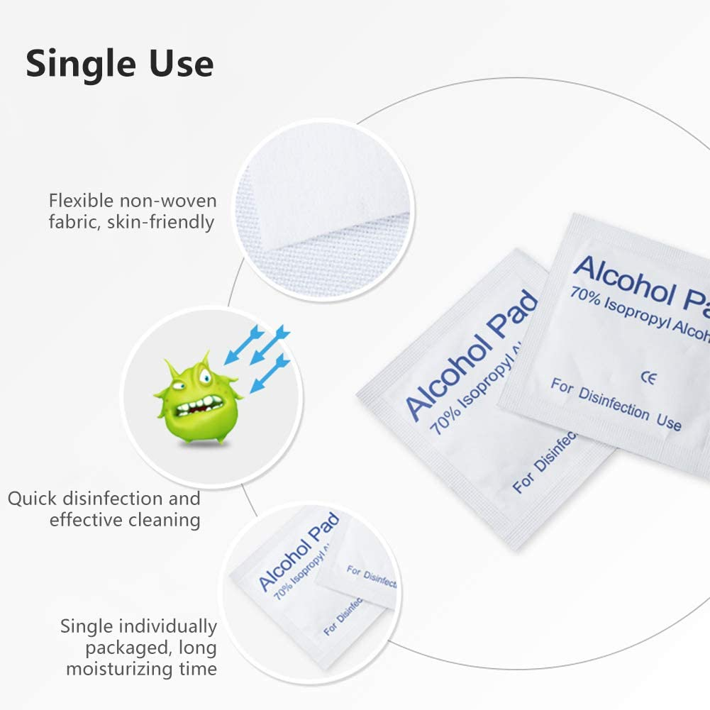 Mouse Kitchens Beauty Tools Rushly Safe Alcohol Prep Pad Bathrooms Toilets 100 Alcohol Wipes for Glasses Cell Phones.