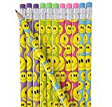 Emoji Pencil, 7.5-Inch 4 Dozens 48 Count Use As Reward Pencils ,Birthday Party Favors For Kids Or Rewards For Students