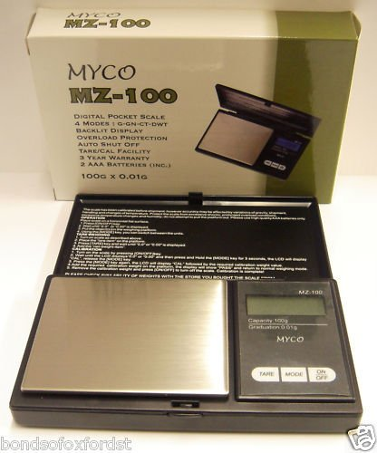 Myco Mz-100 Digital Pocket Scale 100G X 0.01G by Bonds of Oxford - Shopping Outlet Oxford