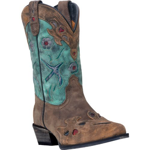 Dan Post Boots Kids Brown Distressed Vintage Bluebird Child 10