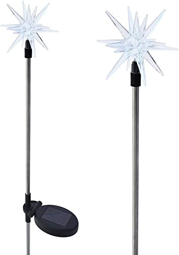 Solaration 1011-2 Sparkling Solar Star Lights Garden Stake Set of 2