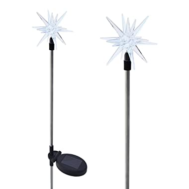 Solaration 1011-2 Sparkling Solar Star Lights Garden Stake (Set of 2)