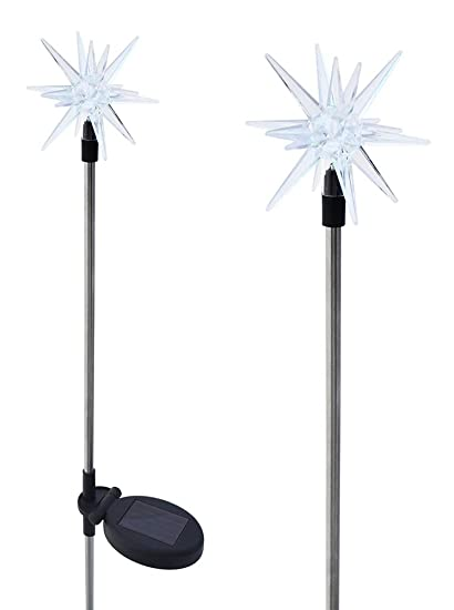 Solaration 1011 2 Sparkling Solar Star Lights Garden Stake (Set Of 2)