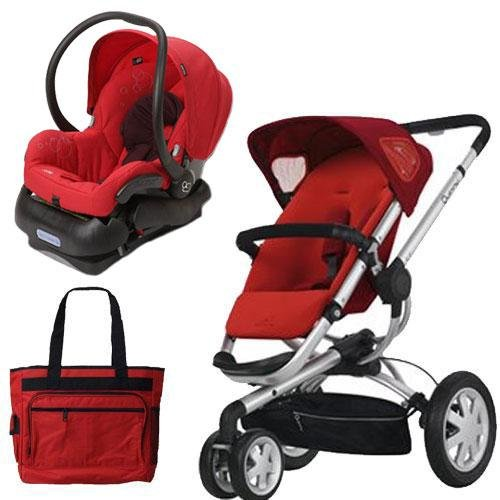 Quinny BUZZ3TRSTMR Buzz 3 Travel System in Red with Diaper Bag, Baby & Kids Zone