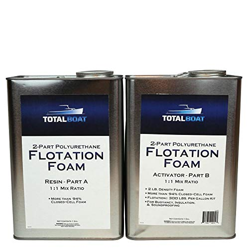TotalBoat Liquid Urethane Foam Kit 2 Lb Density, Closed Cell for Flotation & Insulation (2 Gallon Kit)