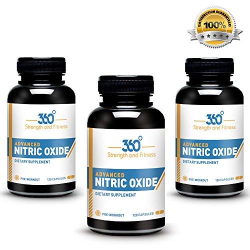 Ma santé! # 1 avancée Ultra NO2 oxyde nitrique Booster ET L-Arginine Supplément - 120 Capsules de 30 jours d'approvisionnement éprouvée Pre-Workout Booster formule pour obtenir Jacked et augmenter la masse musculaire Endurance! Obtenez des résultats en 30