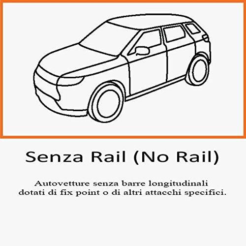 PORTATUTTO VWG TOURAN NO RAILS DAL 2003 AL 2015 BARRE NERE PIU BOX 430LT