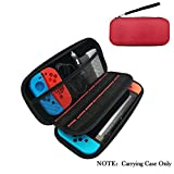 Nintendo Switch Case,Hard Shell Carrying Case for Nintendo Switch with 14 Game Cartridge Holders - Red