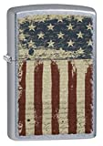 Zippo Lighter: Aged American Flag - Street Chrome