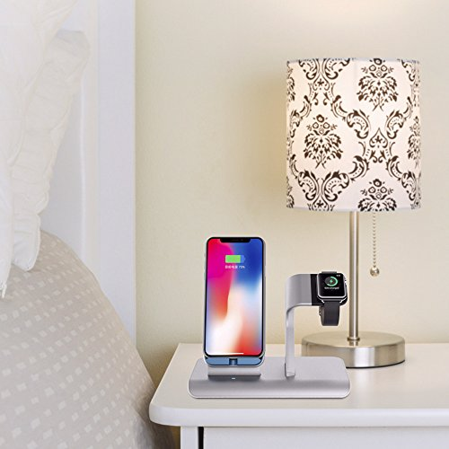 X DODD Replacement for Apple Watch Charging Dock,&Wireless iPhone Charging Stand for iPhone X 8 8 plus Samsung S9/S9+/S8/S8+/S7/Note 8,iWatch Charger Station Holder for iPhone iWatch Series 1/2/3 by XDODD (Image #6)