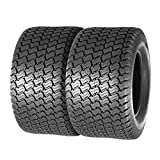 MaxAuto 24x12-12 24x12.00-12 Turf Lawn Mower Golf Cart Tractor Tires 4Ply P332 Tubeless, Set of 2