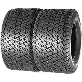 Amazon.com : TRIBLE SIX Set of 2 Tubeless Turf Tires 24x12 ...