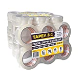 Tape King Clear Packing Tape Super Thick - 60 Yards per Roll (Case of 36 Rolls) - Strong 3.2mil, Heavy Duty Adhesive Commercial Depot Tape for Moving, Sealing, Packaging Shipping, Office & Storage