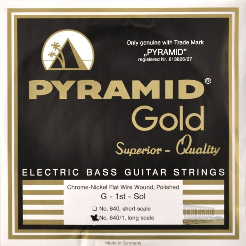 Pyramid Gold Flatwound Long Scale Bass Guitar Strings 40-105 (Long Scale)