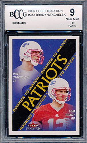 2000 Fleer Tradition #352 Tom Brady Rookie Card Graded BCCG 9 ()