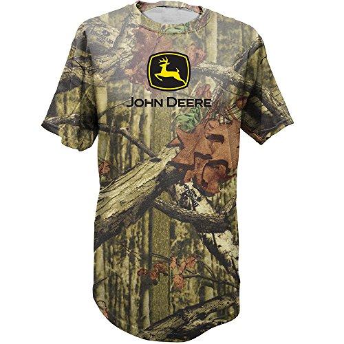 John Deere Logo Camouflage t-Shirt-Men's, Black Mossy Forrest, Large (John Deere 404 Diesel Engine For Sale)
