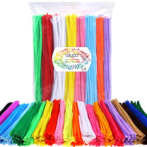 (Caydo 1000 Pieces in 20 Colors Pipe Cleaners Value Pack of Multicolor Chenille Stems for DIY, Art Creative Crafts Decorations (6 mm x 12)