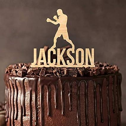Boxeo, boxeador, decoración para tartas de cumpleaños ...