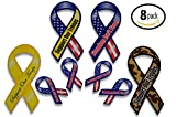 Support Our Troops Patriotic Military Car Magnets Set includes 4...