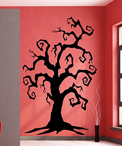 Stickerbrand Holiday Vinyl Wall Art Spooky Tree Wall Decal Sticker - Multiple Colors Available, 72