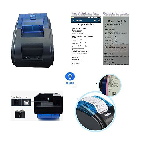 NYEAR computers thermal small two-dimensional code stickers bar code label printer dual-use machine only for windows(12 Android +100 Apple) +2 free labels (USB) by NYEAR (Image #2)