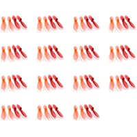 15 x Quantity of Quadcopter Drone 3 Transparent Clear Orange and Red Propeller Blades Props Rotor Set 55mm Factory Units