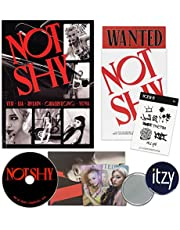 ITZY Album - NOT SHY [ C ver. ] CD + Photobook + Photocards + Lyric Accordion Book + TATTOO STICKER + POSTCARD SET + OFFICIAL POSTER + FREE GIFT