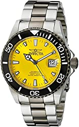 Invicta Men's 10495 Pro-Diver Automatic Yellow Dial Two Tone Stainless Steel Watch