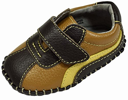 L'Amour Boys Super Soft Leather Sneakers First Walker Baby Shoes (1, ()