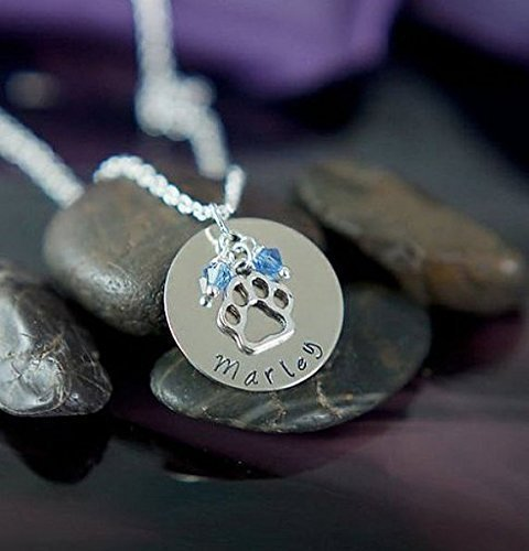 Personalized-Paw-Print-Necklace-DII-Pet-Lover-Gift-Handstamped-Handmade-Necklace