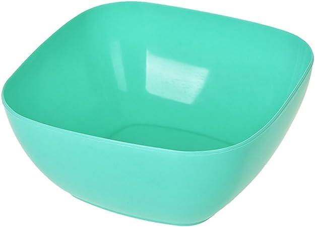 Kanggest Multicolor Plástico Cuenco Cuadrado de Fuente Fruta para Frutos Secos Snack Bandeja Caja de Mezcla de la Cocina 14.5 * 9 * 6.5cm (Azul-Verde): Amazon.es: Hogar