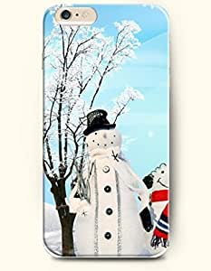 SevenArc New Apple iPhone 6 ( 4.7 Inches) Hard Case Cover - Snowclad Trees and Snowman with White Scarf