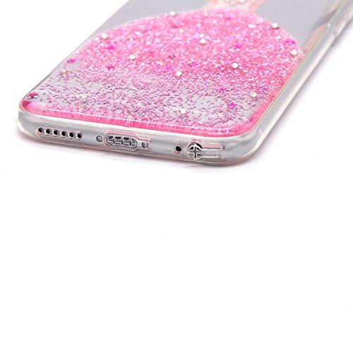 Funda iPhone 6 Carcasas Sunroyal Phone Case iPhone 6S Sunroyal Ultra Clear Creativo Natural Printing Pattern Transparente + Soft TPU Silicone Bumper Practical Ultra Slim Case Resistente a los Arañazos A-02