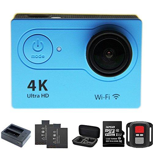 1080p H.264 30fps Full HD Waterproof Wi-Fi Sports Camera (Blue) - 6
