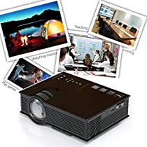 Dressffe UC40+ Pro LED Home Theater Cinema Game Projector HD 1080P HDMI VGA USB Play