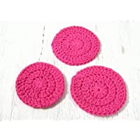 Cotton Facial Scrubbies, Set of three