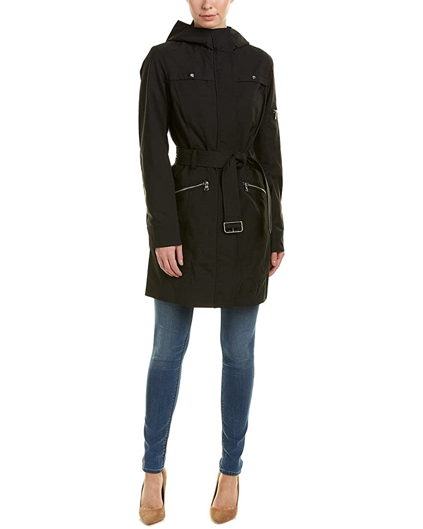 Vince Camuto Women's Hooded and Belted Trench M8111