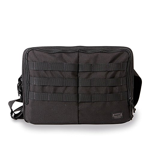 Cargo Works Laptop Shoulder Bag Compatible 15 Inch MacBook Pro Retina, Notebook Computer, Protective Messenger Briefcase Sleeve Carrying Case Cover, Black Cargo Laptop Sleeve Case