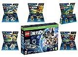 Lego Dimensions Ninjago Starter Pack + Jay + LLoyd + Nya + Zane + Sensei Wu Fun Packs for Xbox One or Xbox One S Console