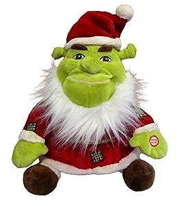 """Amazon.com: Hallmark Santa Shrek Talking 11"""" Plush"""